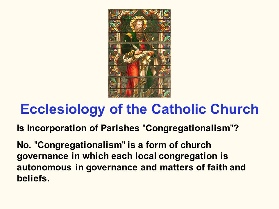 ARTICLES OF INCORPORATION Purpose: manage the affairs of the Corporation (i.e., the Parish) in strict conformity with and subject to the laws and discipline of the Roman Catholic Church