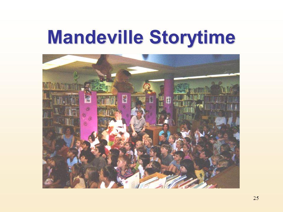 25 Mandeville Storytime