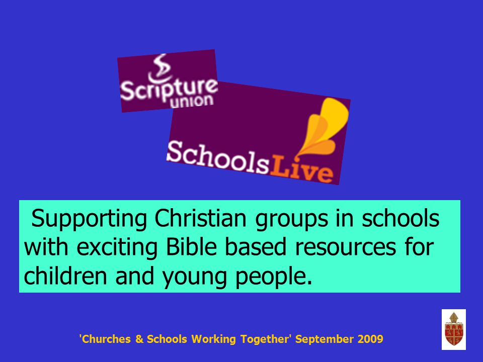 Supporting Christian groups in schools with exciting Bible based resources for children and young people.