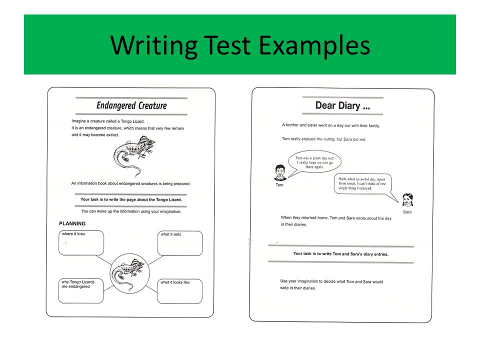 Writing Test Examples