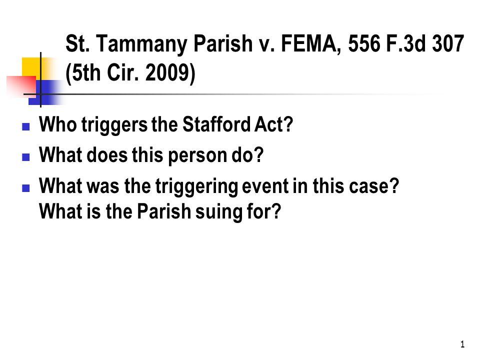 1 St. Tammany Parish v. FEMA, 556 F.3d 307 (5th Cir.