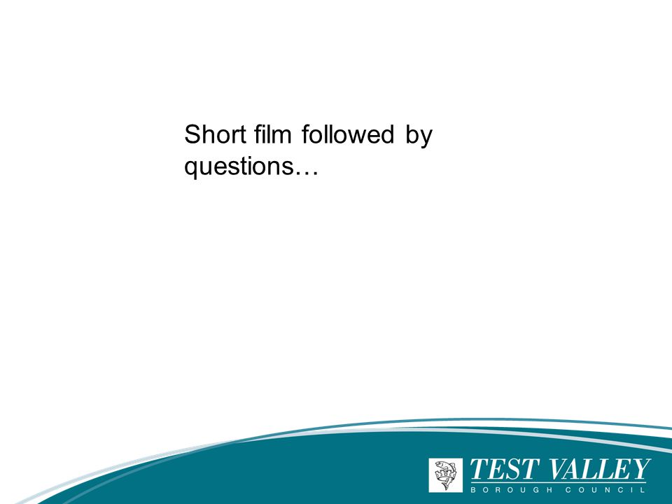 Short film followed by questions…