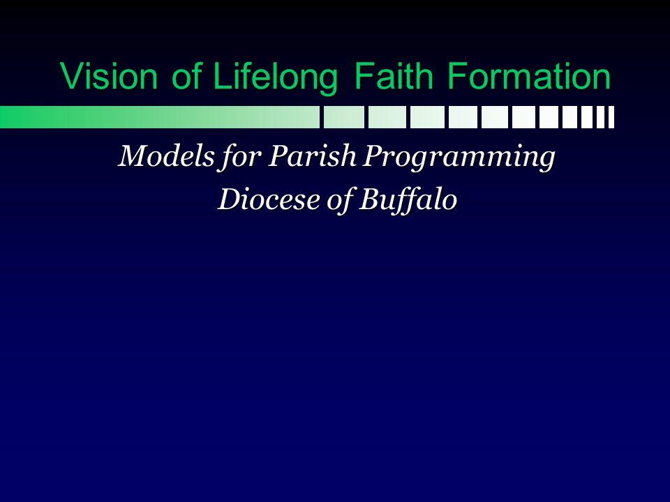 Vision of Lifelong Faith Formation...
