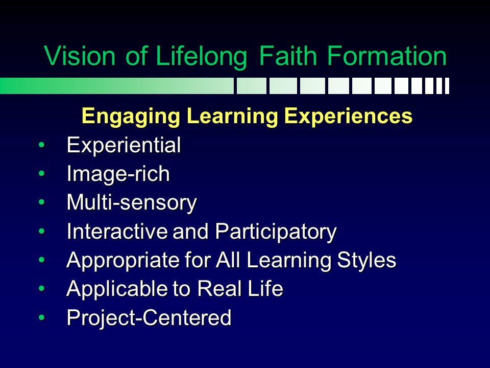 Lifelong: Whole Parish Adults Young Adults Older Adults Whole Families All Ages Intergenerational Approach