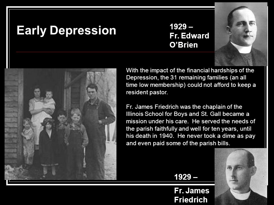 Early Depression 1929 – Fr.