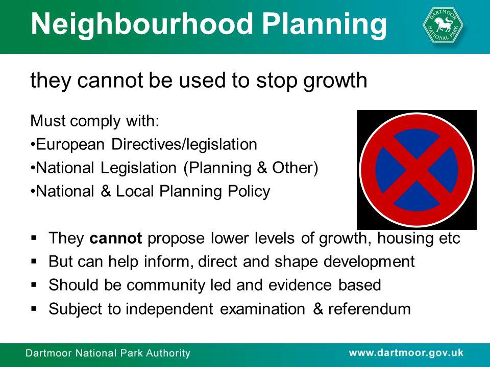 Neighbourhood Planning Why a Neighbourhood Plan & not a Parish/Town Plan.