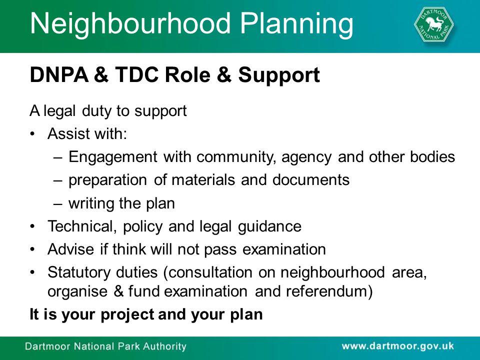 Neighbourhood Planning The Process: