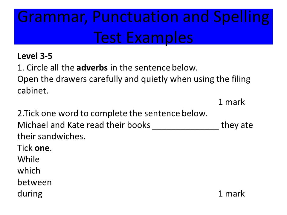 Level 3-5 1. Circle all the adverbs in the sentence below.