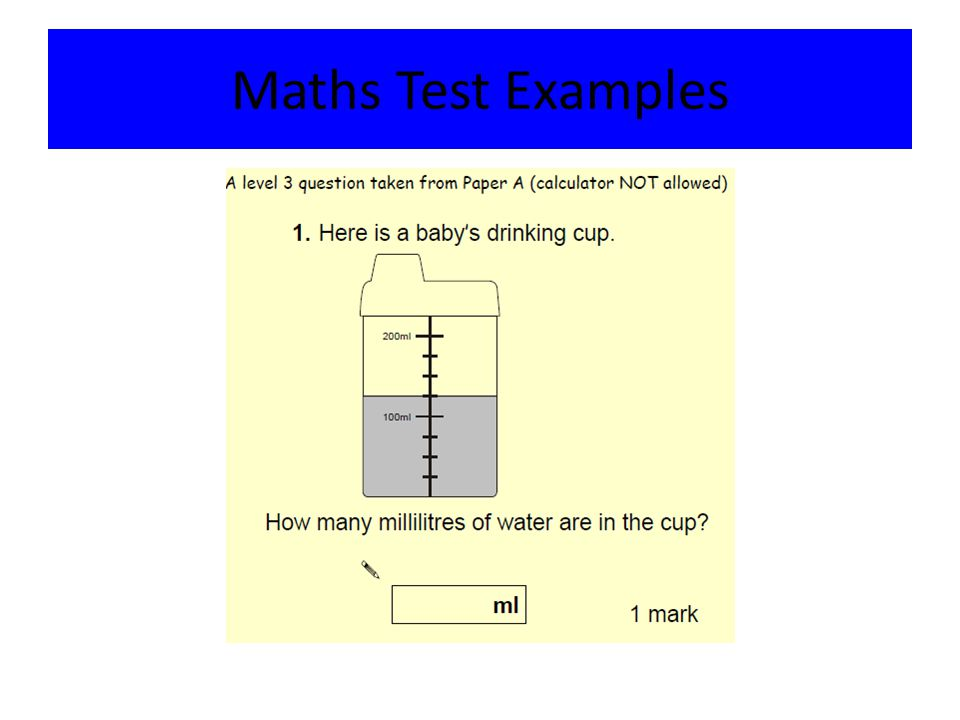 Maths Test Examples