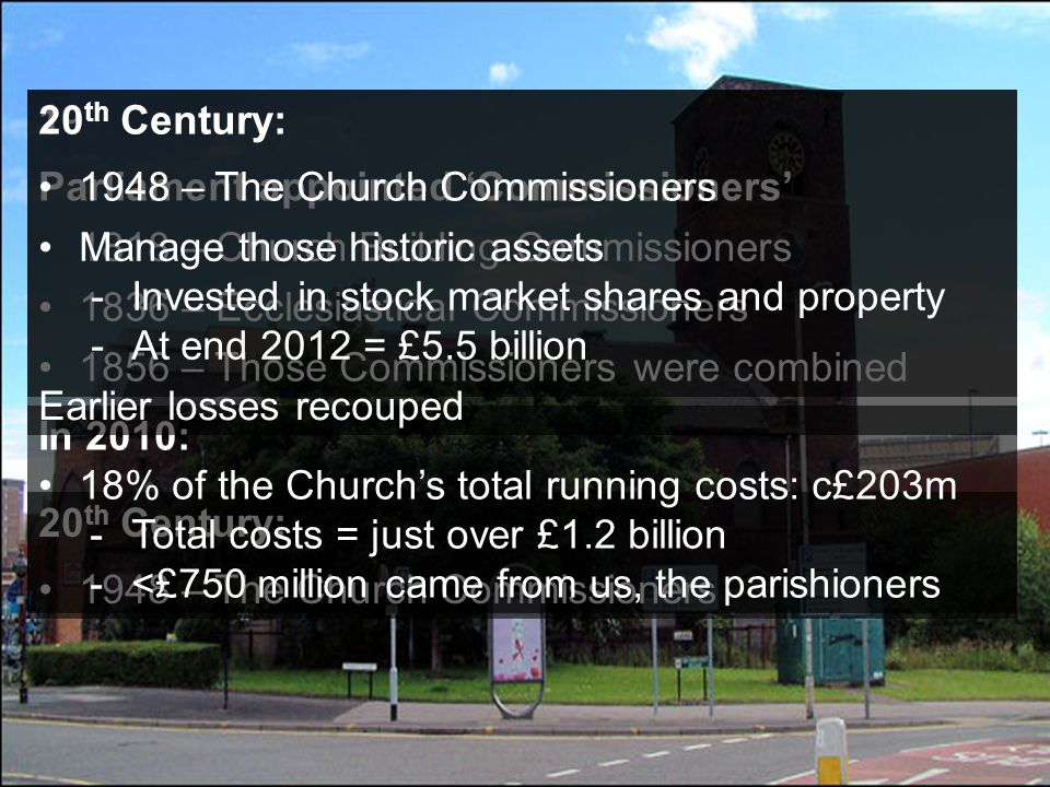 6161 89% of Parish Share goes in ministry costs CentreParishes If Parish Share doesn't increase 2013 2014 2015 8484 107 6565 812 1016