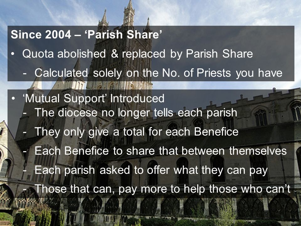 Summary 4.Do something different - 'Journey Together' to help each other - A Focus Leader in every parish to give 'Effective Ministry' - Investigate a 'Fresh Expression' to build our present congregation and/or plant a new one(s)