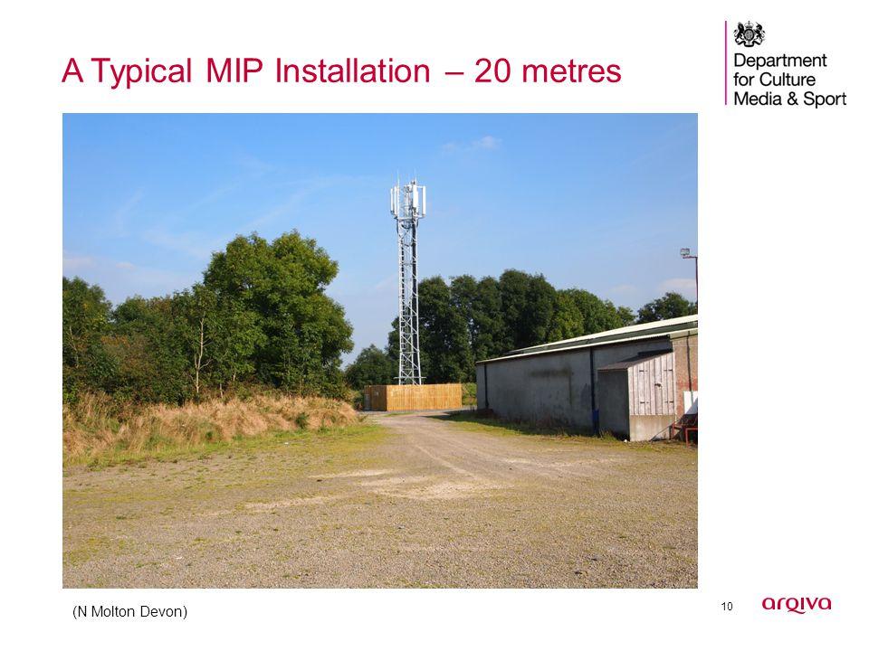 10 A Typical MIP Installation – 20 metres (N Molton Devon)