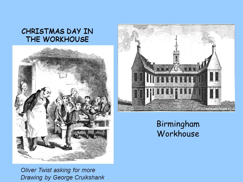 CHRISTMAS DAY IN THE WORKHOUSE Oliver Twist asking for more Drawing by George Cruikshank Birmingham Workhouse