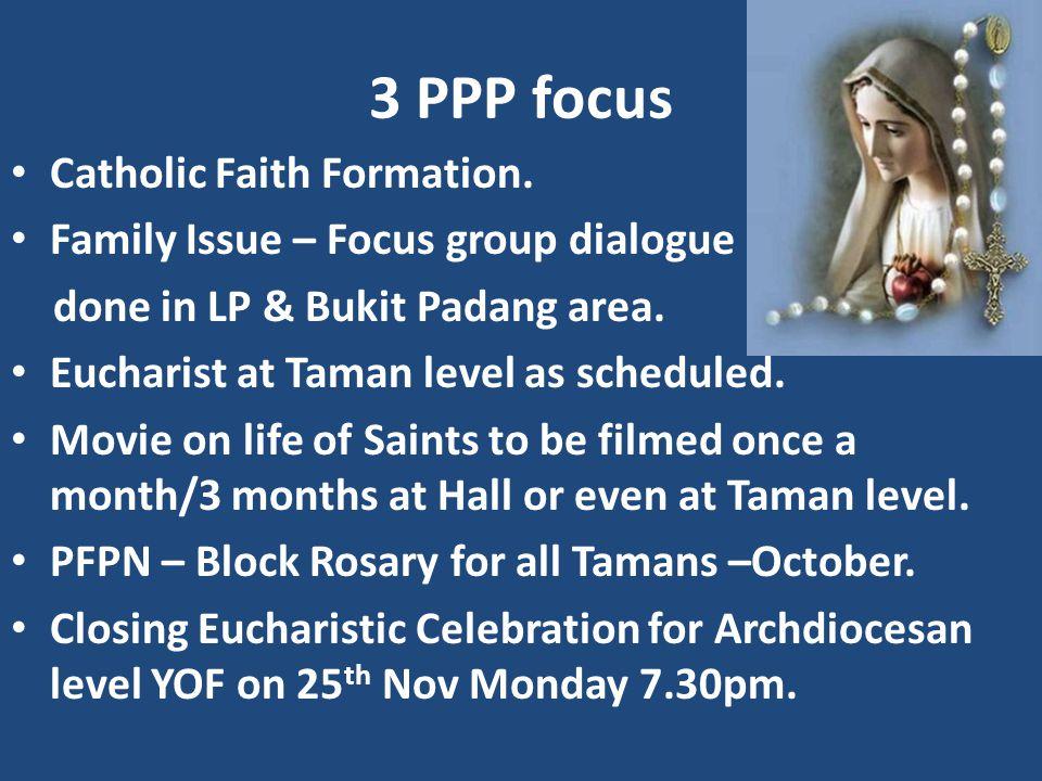 3 PPP focus Catholic Faith Formation.