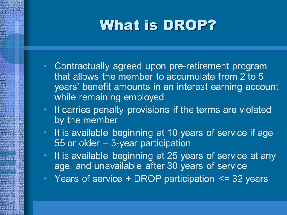 What is DROP.