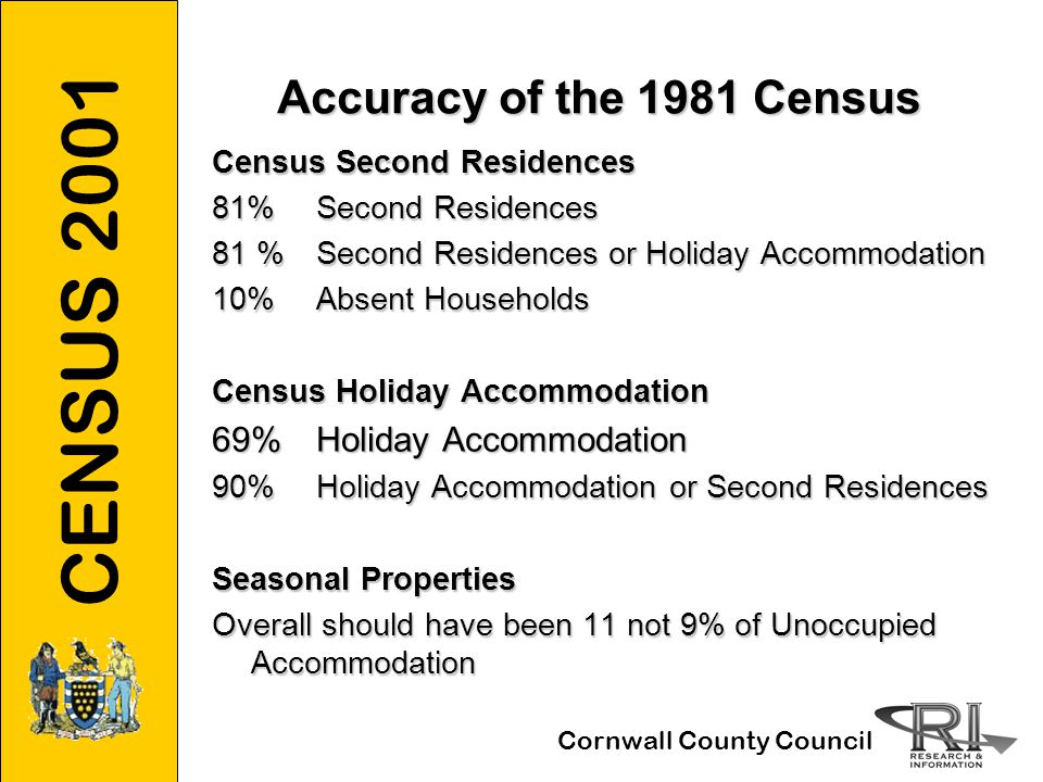 CENSUS 2001 Cornwall County Council