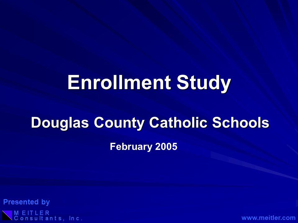 Enrollment Study Douglas County Catholic Schools February 2005 www.meitler.com Presented by