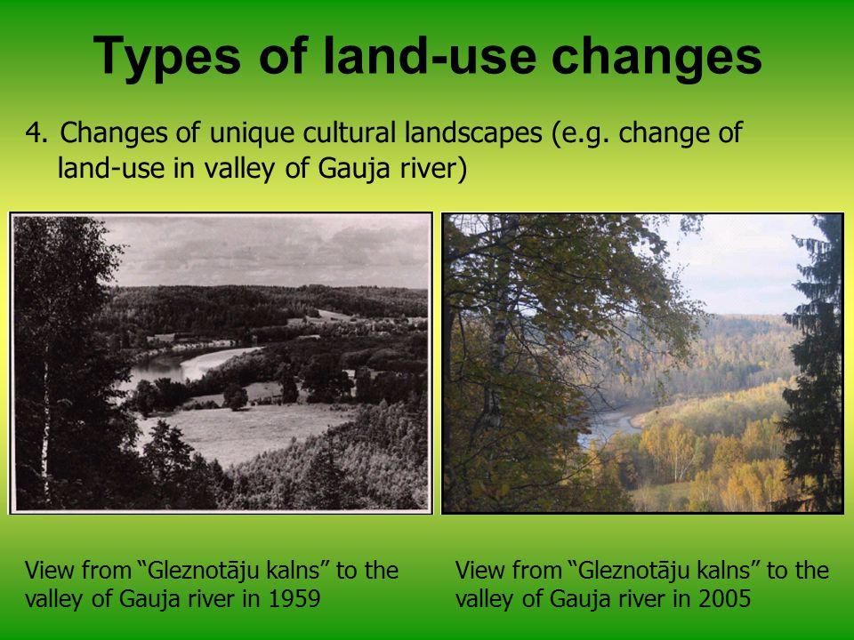 4. Changes of unique cultural landscapes (e.g.