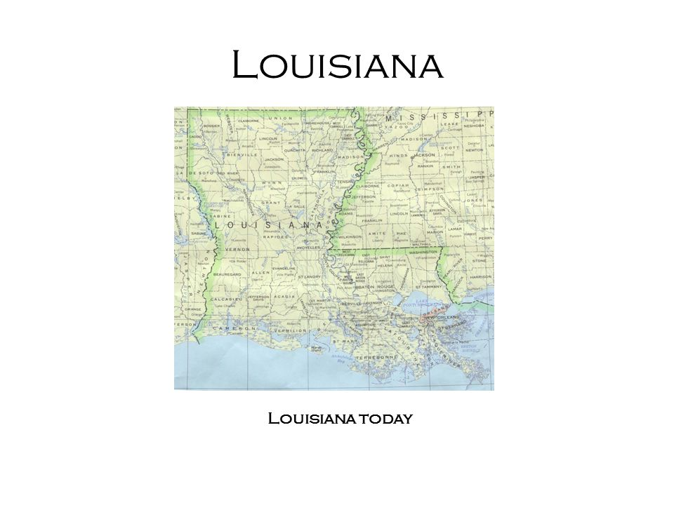 Louisiana: a short History Became French colony 1699 (claimed by LaSalle) 1699-1717 colonized by Mixture of non-elite French-speaking settlers –from what is now Canada, various parts of France –Small population of their Native American slaves –(colonization continues throughout 18 th and 19 th centuries) Map of America, including Louisiana territory ca 1720