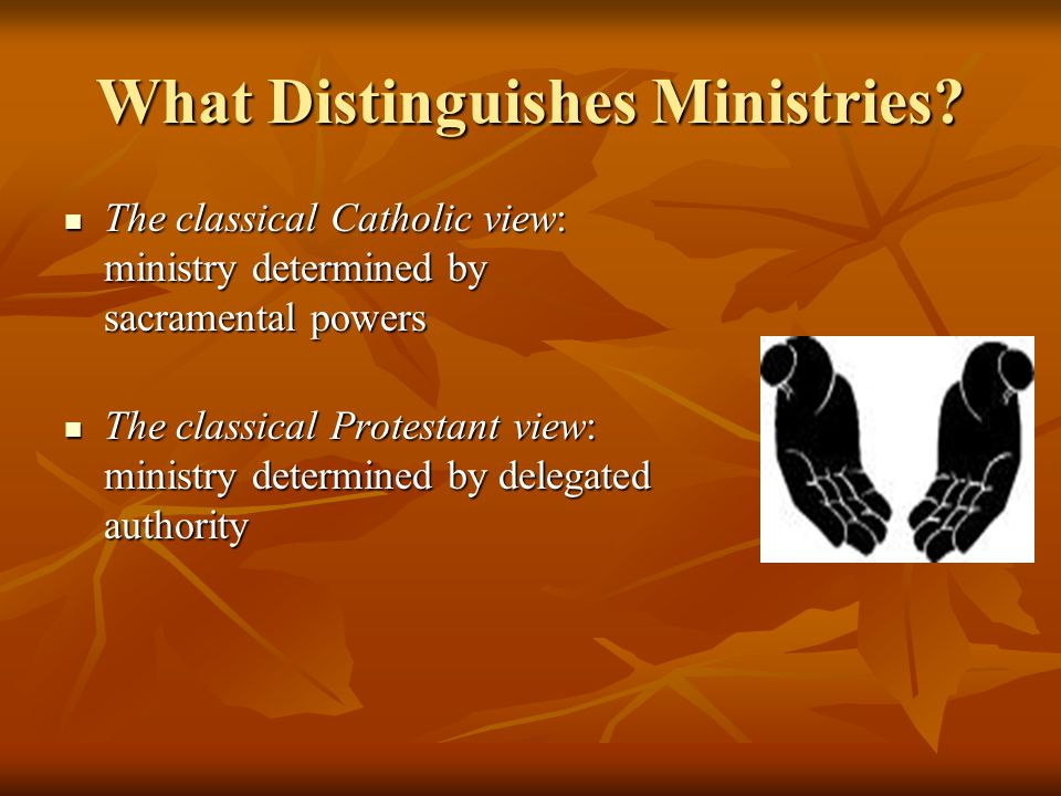 What Distinguishes Ministries.