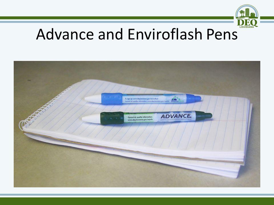 Advance and Enviroflash Pens