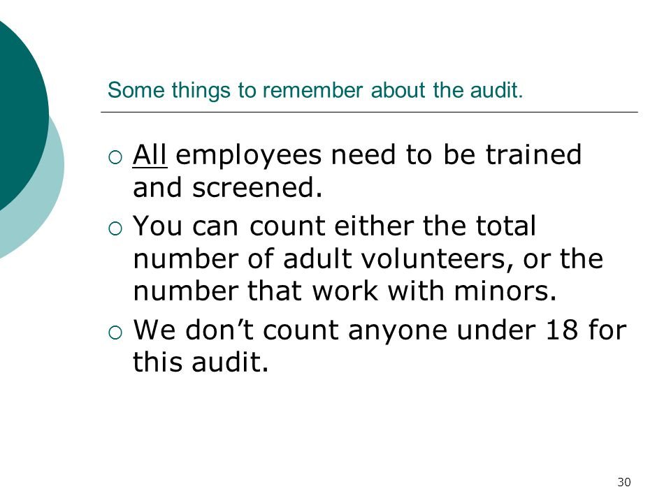 31 Audit websites:  http://youthprotection.rcan.org/ (DUE DECEMBER 1) http://youthprotection.rcan.org/  http://youthprotection.rcan.org/mai nschool.aspx (DUE APRIL 15) http://youthprotection.rcan.org/mai nschool.aspx
