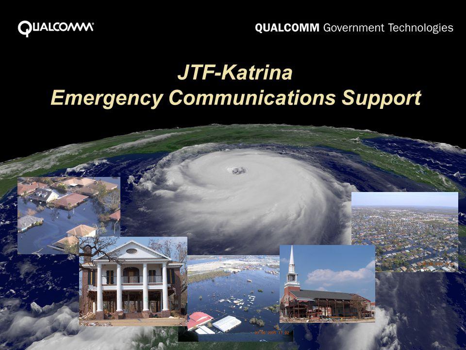JTF-Katrina Emergency Communications Support