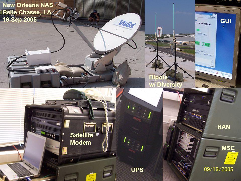 New Orleans NAS Belle Chasse, LA 19 Sep 2005 RAN MSC Satellite Modem Dipole w/ Diversity UPS GUI