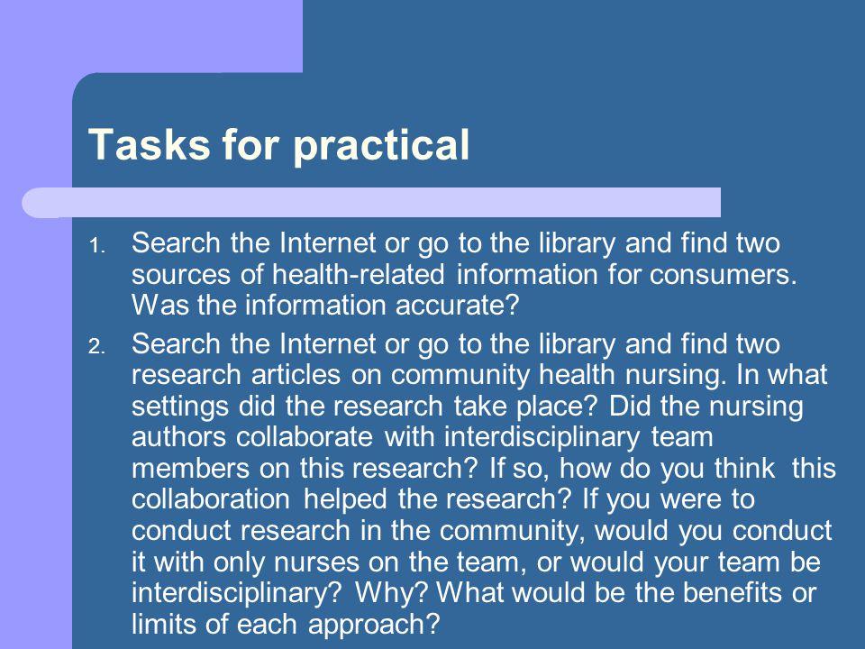 Tasks for practical 1.