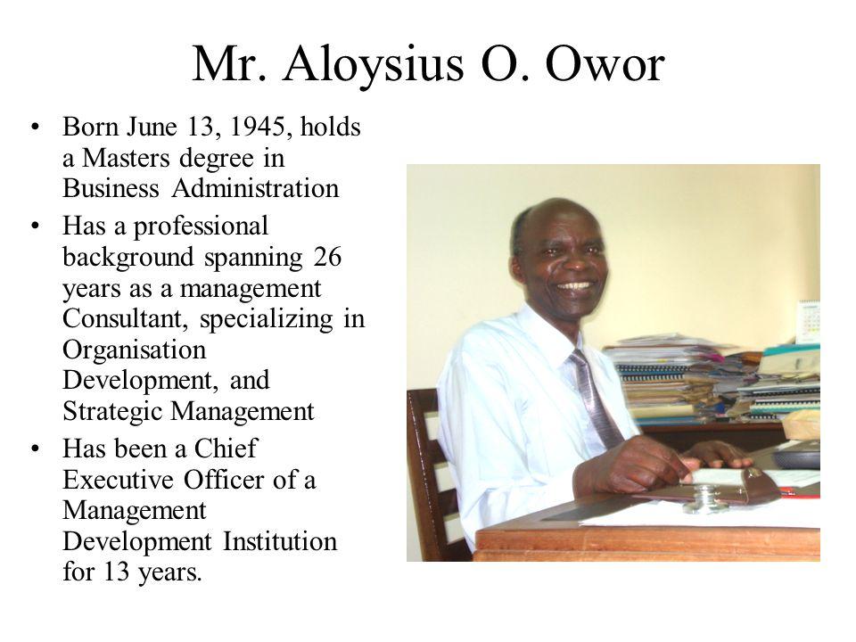 Mr. Aloysius O.