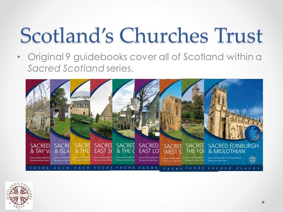 Scotland's Churches Trust Original 9 guidebooks cover all of Scotland within a Sacred Scotland series.