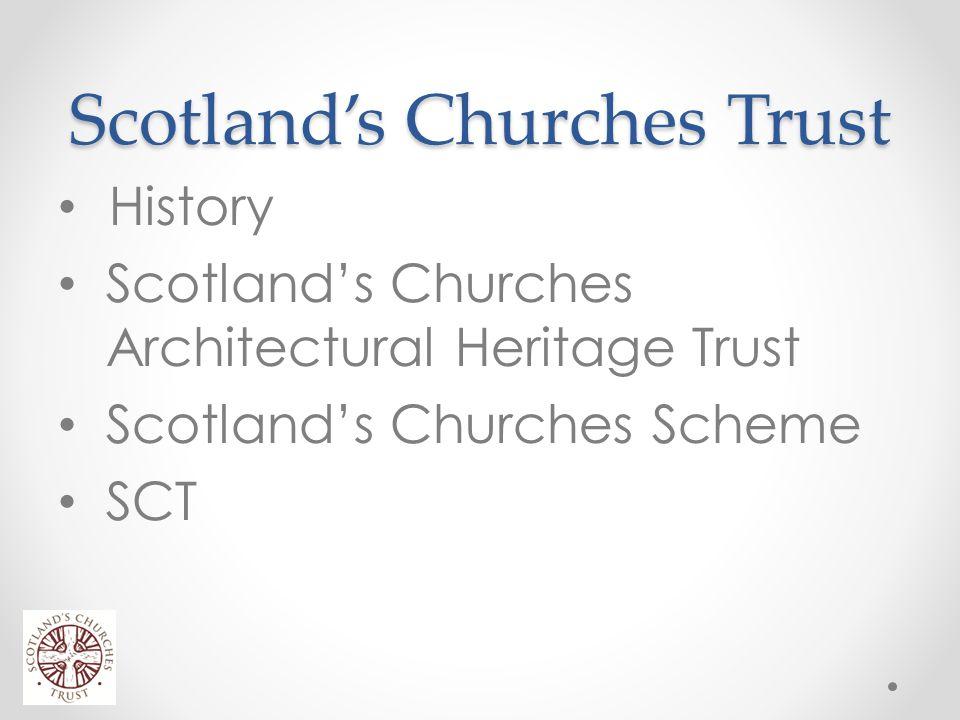 Scotland's Churches Trust Scotland has 3500 places of worship