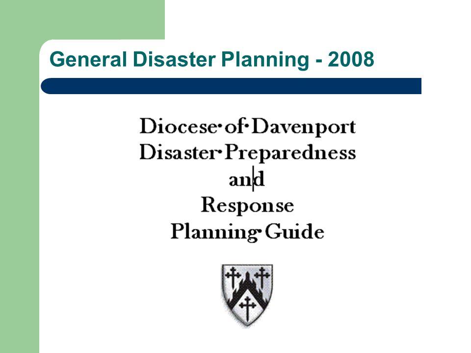 General Disaster Planning - 2008