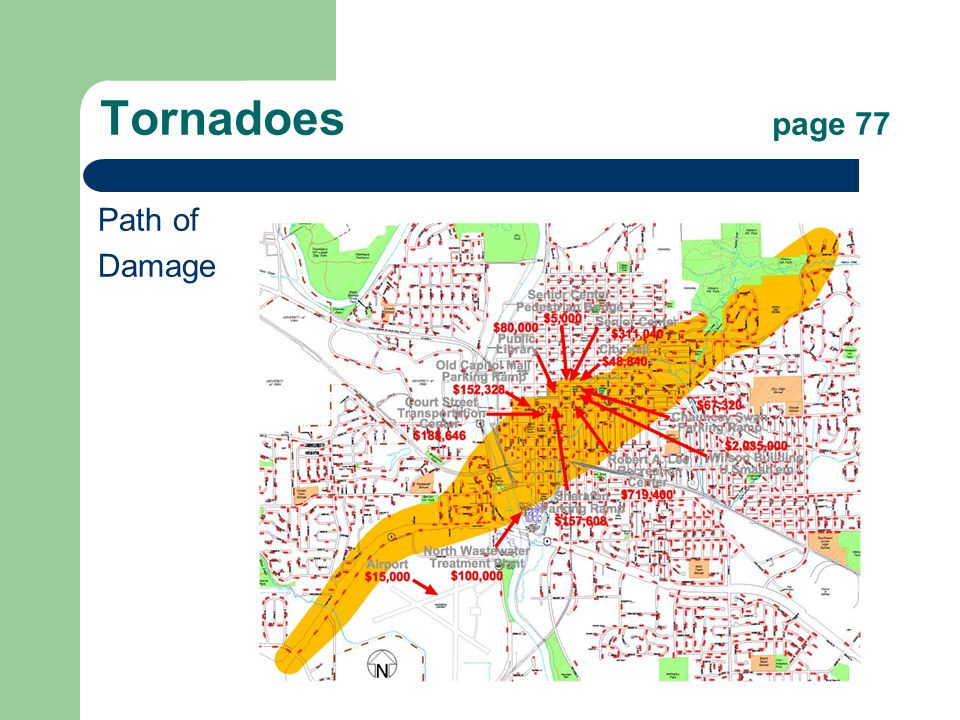 Tornadoes page 77 Path of Damage