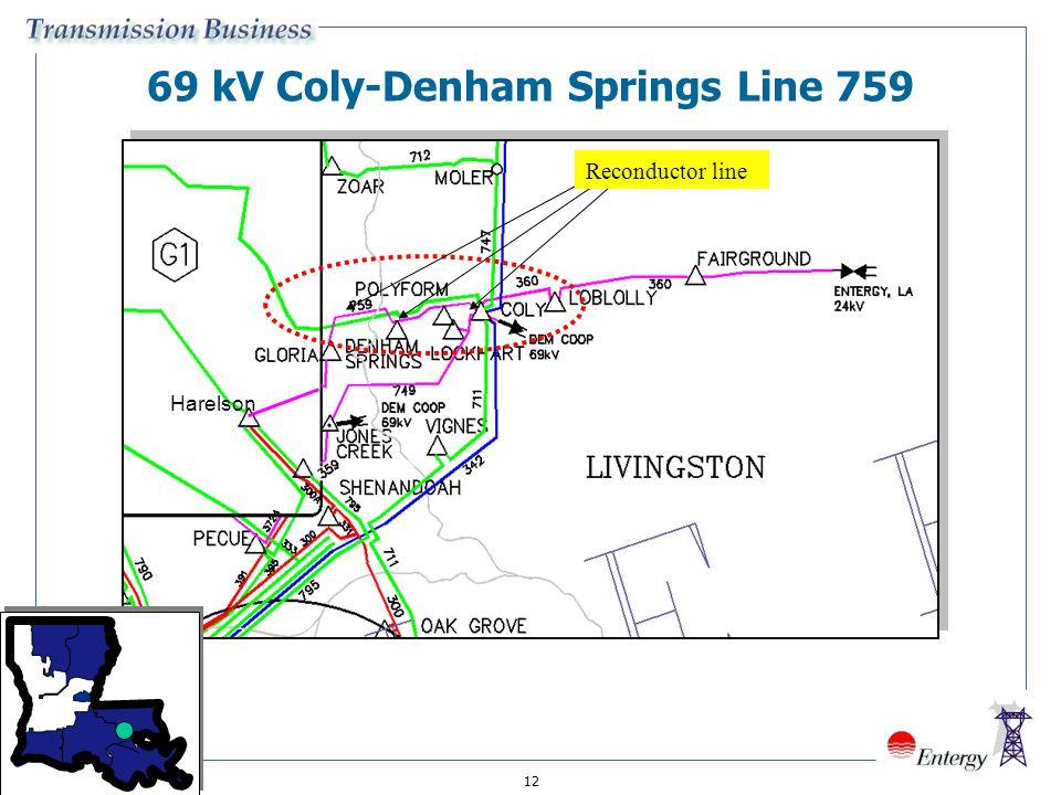 12 69 kV Coly-Denham Springs Line 759 Reconductor line Harelson