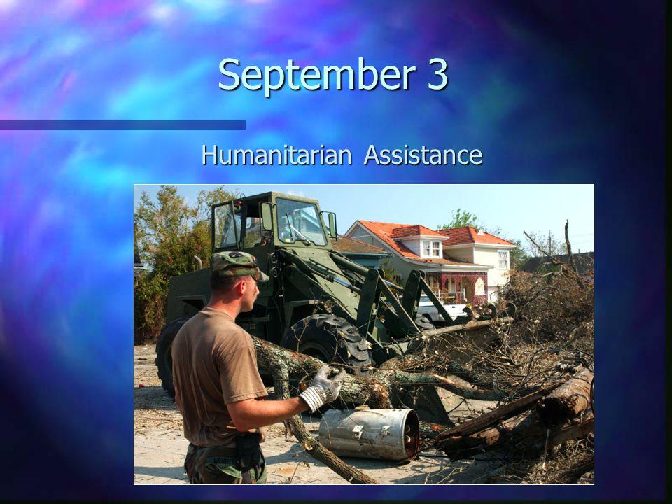 September 3 Humanitarian Assistance