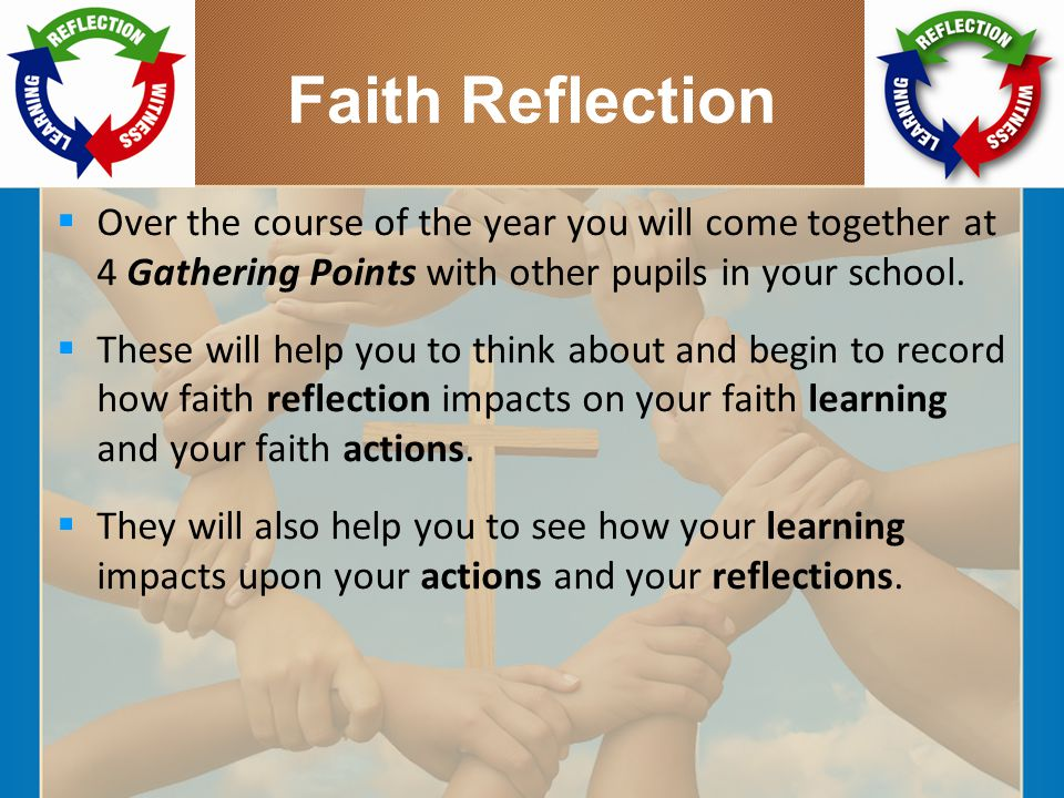 Faith Reflection  Over the course of the year you will come together at 4 Gathering Points with other pupils in your school.