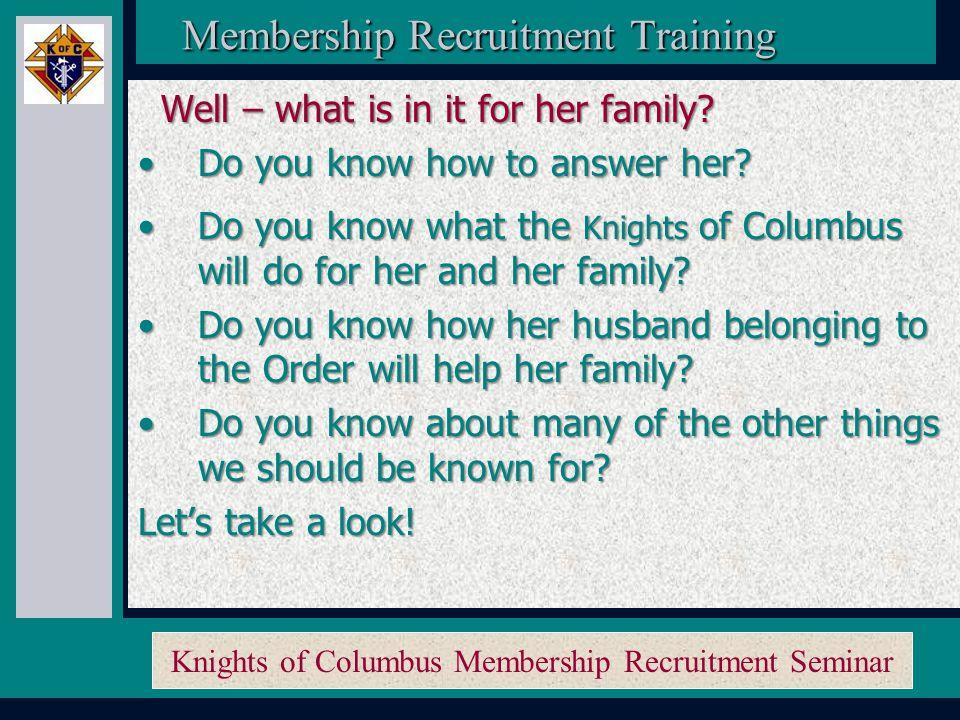 Knights of Columbus Membership Recruitment Seminar Membership Recruitment Activity Planner Membership Recruitment Activity Planner And the prospect's