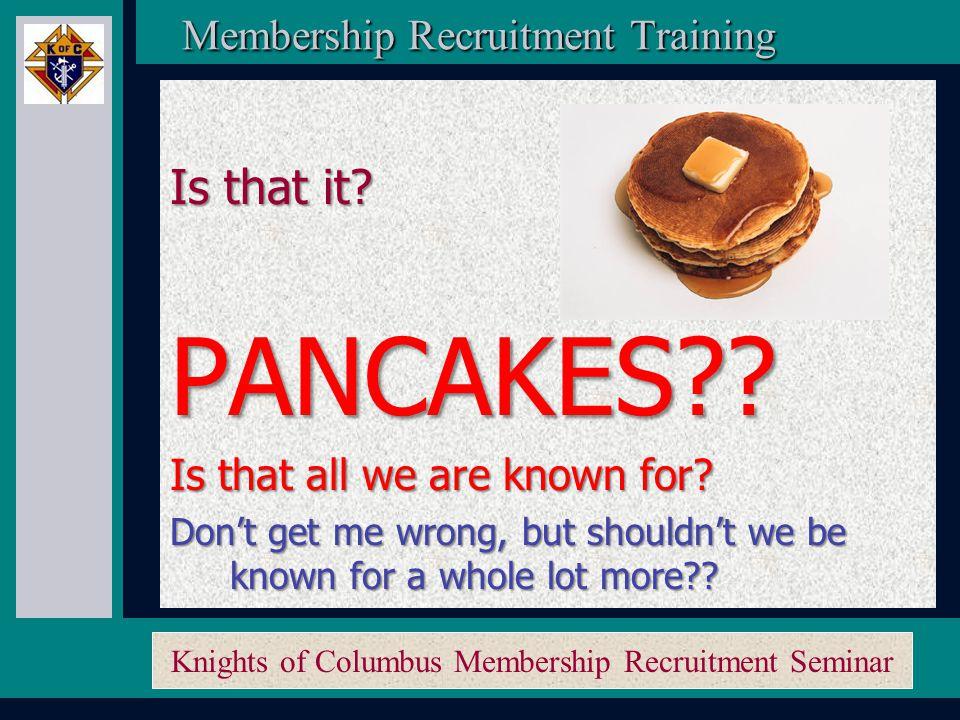 Knights of Columbus Membership Recruitment Seminar Membership Recruitment Activity Planner Membership Recruitment Activity Planner 2.