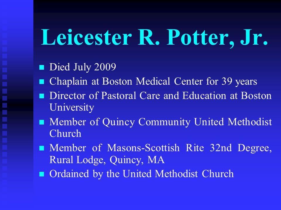 Leicester R.Potter, Jr.