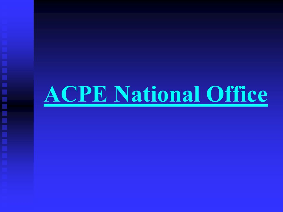 ACPE National Office