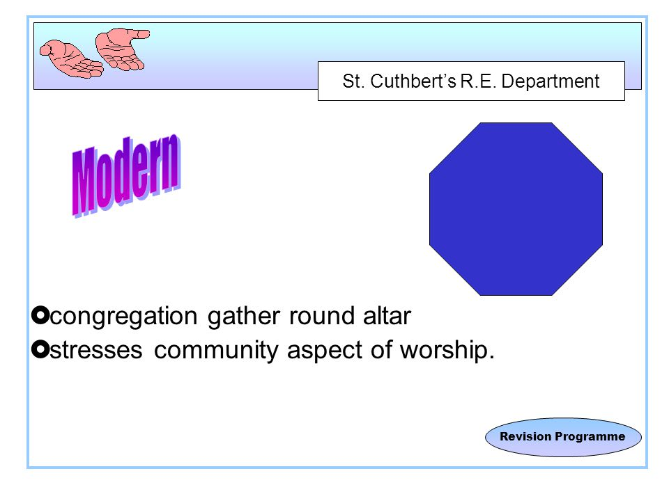 St. Cuthbert's R.E. Department Revision Programme