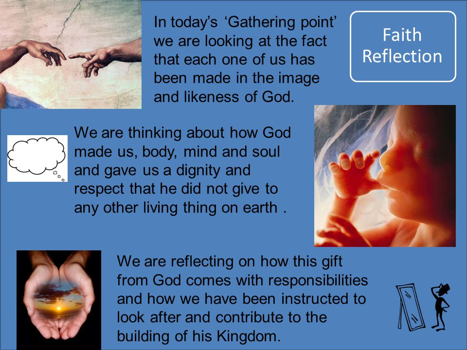 We are reflecting on how this gift from God comes with responsibilities and how we have been instructed to look after and contribute to the building o
