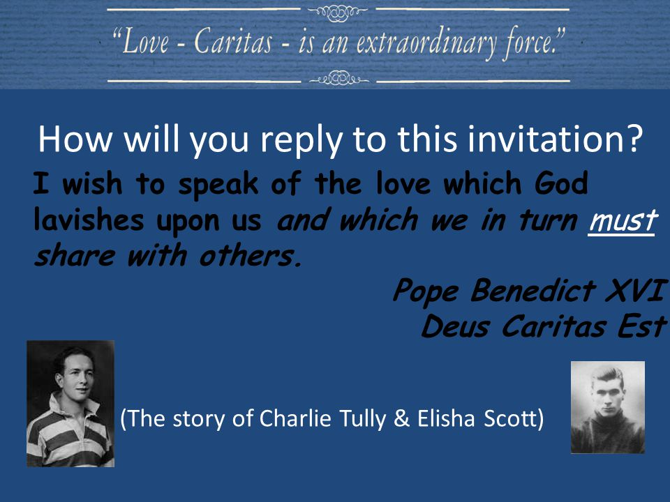 (The story of Charlie Tully & Elisha Scott) How will you reply to this invitation.