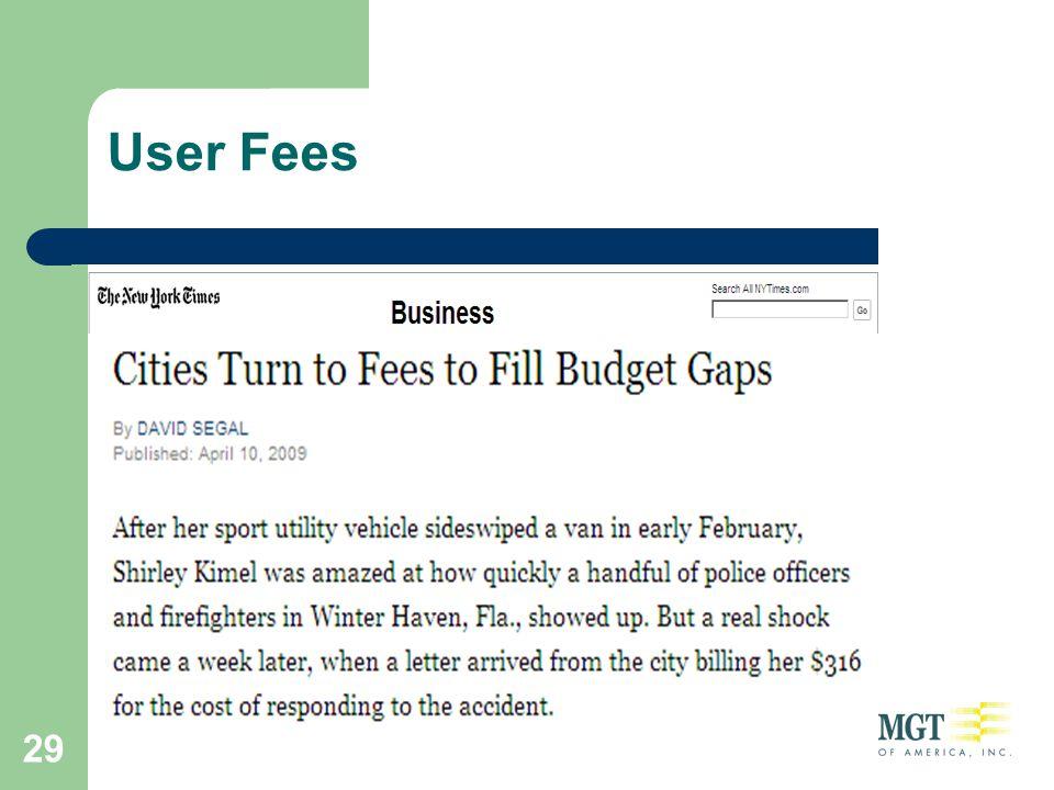 29 User Fees