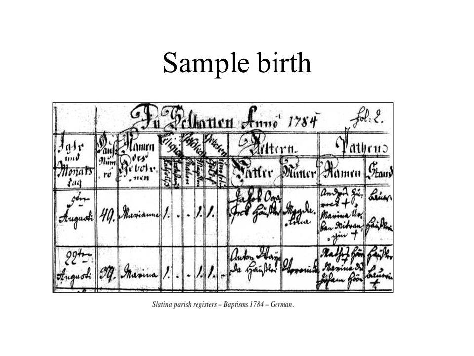 Sample birth