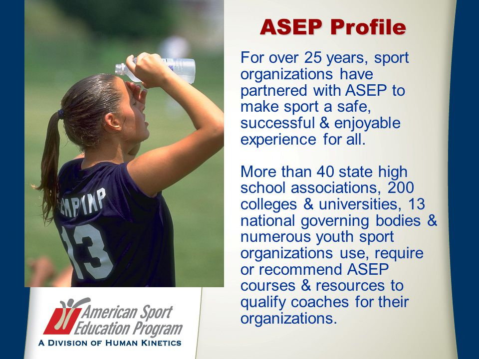 How it Works – Individual Coaches 1.Coaches purchase course online - $19.95 – through the ASEP or NCCYS websites.