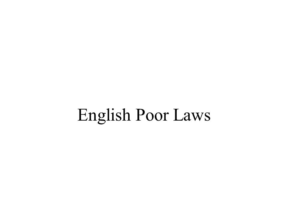 Historical Development of Law and Poverty