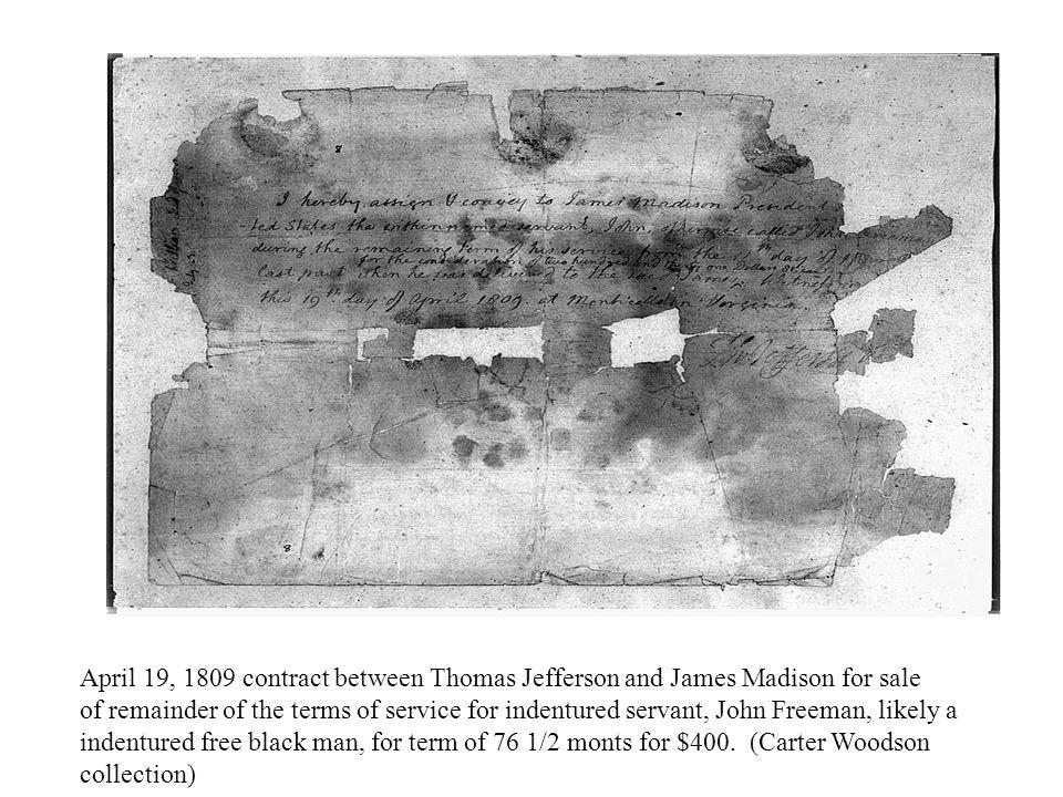 7 year indenture of John Broad to George Washington, December 21, 1773