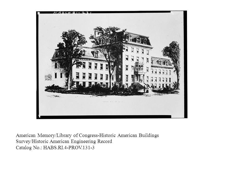 American Memory/Library of Congress-Historic American Buildings Survey/Historic American Engineering Record Catalog No.: HABS.RI.4-PROV.131-2